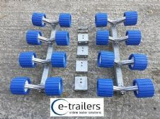 16 Wobble Roller System for Boat Jet Ski Trailers - Fits 40x60mm Cross Beams